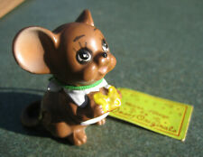 Vintage Cheesy Mouse Village Josef Originals Mouse with Cheese & Original Tag