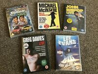 BN New Sealed 5 Comedy DVDs John Bishop Lee Evans Greg Davies Top Gear McIntyre