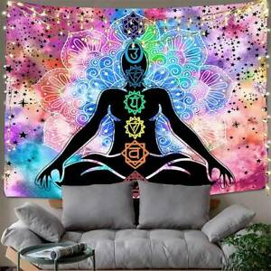 Hippie Psychedlic Tapestry Mandala Wall Hanging Art Blankets Bedroom Home Decor