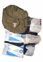 12 Pieces+ Set US ARMY USMC IFAK Military Surplus Coyote First Aid Kit Pouch