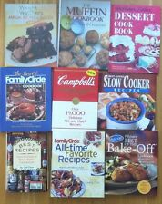 9 VTG Hardcover Cookbooks, A Great Variety of Cooking Recipes, New