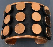 XL Wide Mexican Copper Dot Cuff Bracelet