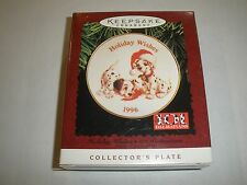 1996 Collectible Hallmark Collector Plate, Holiday Wishes 101 Dalmations T117