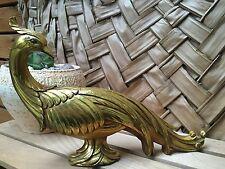 Vintage ART NOUVEAU Style Golden PEACOCK Ceramic Statue /Figurine