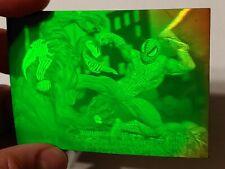 1993 Marvel Universe H-IV Spiderman vs Venom 3D Hologram card MINT NEVER in pack