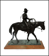 Keith Christie Large Western Bronze Sculpture El Segundo Signed Horse Cowboy Art
