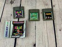 Gameboy Color Games Lot - Klax, Disney Tarzan, Spiderman