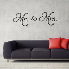 Mr. & Mrs.  Bedroom Couple Wedding Gift Vinyl Wall Decal Decor Words Lettering