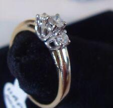 sweet 3 DIAMONDs 14K Gold ESTATE Ring CAN SIZE