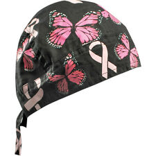 Pañuelo para la cabeza bandana Breast Cancer Ribbon and Butterfiles Zanheadgear