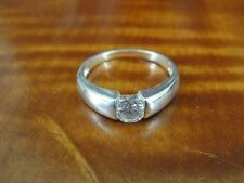 Silver 925 Ring Size 6 3/4 Single Cubic Zirconia in Band Sterling