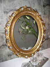Espejo de pared espejo ORO antigua Barroco 58x68 cm moderno OVALADO Rococó 41 3