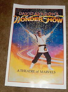 Original Magic Poster DAVID AVADON'S WONDER SHOW