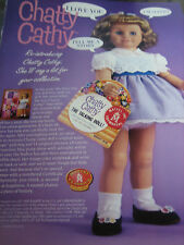 1998 Chatty Cathy Doll Ad ADVERTISEMENT ONLY