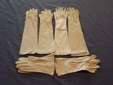 Vintage 6 Pairs Ladies Womens White Gloves