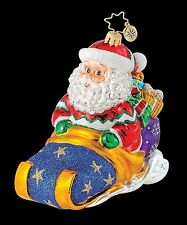 Radko 1014815 Alpine Sleigh Away - Santa - Sled - Retired Ornament
