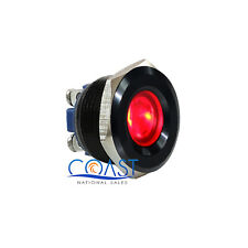 Durable 12V 16mm Black Housing Car Red LED Indicator With Screw Terminal