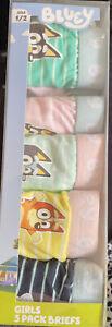 Girls size 1 -2 Genuine BLUEY pack of 5 briefs from Target undies Giftbox NEW