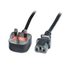 UK POWER KETTLE LEAD 3 Pin UK Plug PC Monitor C13 Cord Random SIzes -Fast & Free