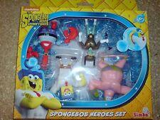 SPONGEBOB HEROES SET - THE SPONGEBOB MOVIE 2015 SPONGE OUT OF WATER NEW