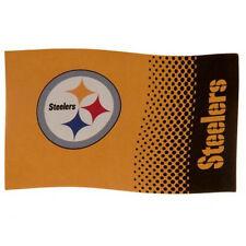 Pittsburg Steelers Licensed  Football Flag 5x3Ft Flag Pole Windsocks Use.