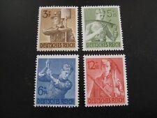 THIRD REICH 1943 mint German Workers overprint stamp set!