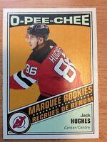 O-Pee-Chee 2019-2020 RETRO JACK HUGHES ROOKIE CARD #611 NEW JERSEY DEVILS