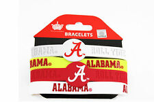 Alabama Crimson Tide Silicone Bracelets 4pk