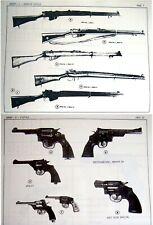 Fuerzas de defensa de Israel Hebreo armas de fuego arma Catálogo Israel Rifle Pistola Máquina Submachine Gun