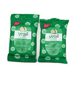Yes to Cucumber  Hypoallergenic Facial Towelettes, 10ct, 2 Pack J1