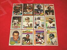 2001 TOPPS FOOTBALL COMPLETE WALTER PAYTON REPRINTS SET 1-12 BEARS HOF (INS2)