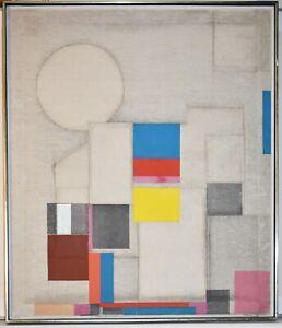 Japanese American Artist NORIO AZUMA, Large Original Painting On Canvas Signed
