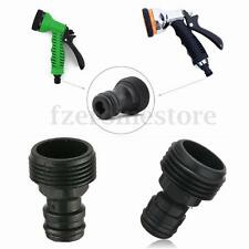 "2Pcs Plastic Garden Tap Hose Pipe Connector Adaptor Male Screw 3/4"" BSP ABS Tool"
