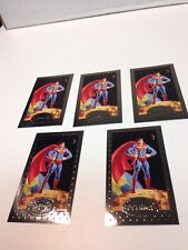 Superman SP1 (Platinum Premium Edition Trading Card) 1994 Skybox Lot Of 5