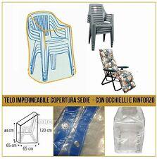 TELO COPERTURA SEDIE E POLTRONE GIARDINO CAPPUCCIO IMPERMEABILE OCCHIELLI