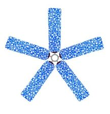 CEILING FAN BLADE FABRIC COVERS   BLUE HAWAIIAN FLOWERS        SET OF 5     NEW