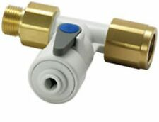 "JOHN GUEST ASV10 ANGLE STOP VALVE 1/2"" BSP x 1/4"" TEE CONECTOR FOR WATER FILTERS"