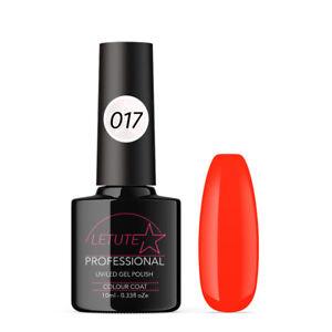 017 LETUTE™ Orange Neon Soak Off UV/LED Nail Gel Polish