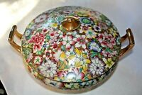 Gilded Floral A.C.F. Taurine Japanese Porcelain Ware Hand Painted In Hong Kong