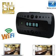 WIFI 1080P Spy Clock Wireless IP Camera Video Recorder IR Security Network Cam