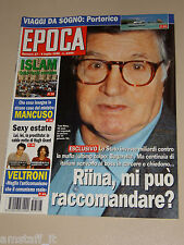 EPOCA=1995/2335=TOTO RIINA=LAURENT OTTOZ=EZIO GREGGIO=PAOLA BARALE=