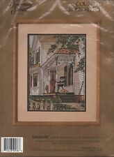 New listing Country Porch Snoozin House Cross Stitch Kit 50536 Something Special Vintage 99