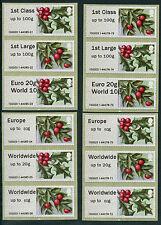 WINCOR TII WINTER GREENERY FLORA FLOWERS 1st DAY FULL SET OF 12 FDI POST & GO