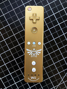 Zelda Skyward Sword Special Edition Gold Wii Remote Tested & Working!