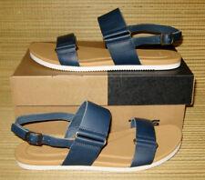 BRAND NEW Teva Avalina Sandal Blue Leather Flat Sandals WOMENS 9