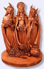 Brigid Brigit Celtic Statue Maid Mother Crone Pagan Wicca Triple Goddess #TGS