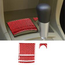 For Mitsubishi Lancer 2008-2015 Red Carbon Fiber Ashtray&Power Outlet Cover Trim
