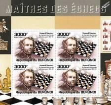 Campeones del mundo de ajedrez/hoja De Sellos Grandes Maestros #4 de 5 (2011 Burundi)