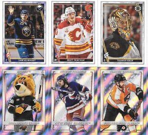 U PICK EM LOT 2020-21 20-21 Topps NHL Sticker Collection set w/ FOIL #1-438