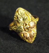 Vintage 1970's 10KT Solid Rose & Yellow Gold Black Hills Gold Ring ~ 4.0grams ~